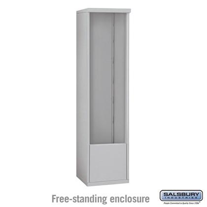 4C Horizontal Mailbox Enclosure - for 14 Door High Unit - Single Column - Free-Standing
