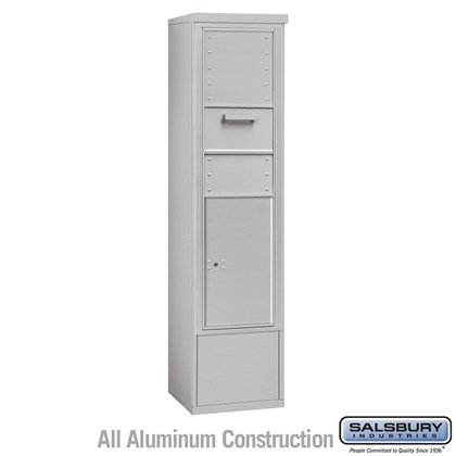 Custom Free-Standing 4C Horizontal Collection Box (Includes 3715S-1C and 3915S Enclosure) - 15 Door High Unit (72 Inches) - Single Column - Front Access