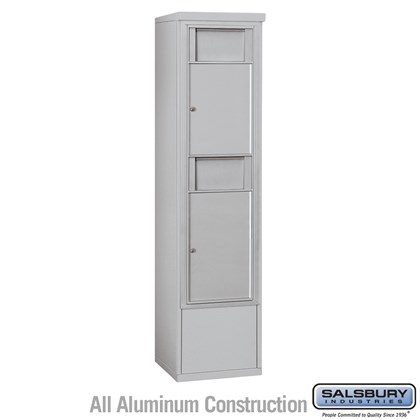 Custom Free-Standing 4C Horizontal Receptacle Bins (Includes 3715S-2B and 3915S Enclosure) - 15 Door High Unit (72 Inches) - Single Column - 2 Receptacle Bins - Front Access