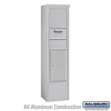 Free-Standing 4C Horizontal Collection Box (Includes 3716S-1CAF and 3916S-ALM Enclosure) - Maximum Height Unit (72 1/8 Inches)  - Single Column - Front Access