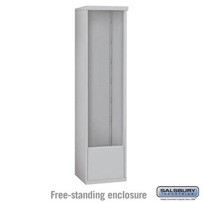 4C Horizontal Mailbox Enclosure - for Maximum Height Unit - Single Column - Free-Standing