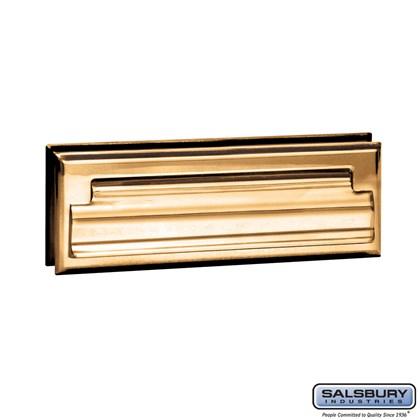 Mail Slot - Standard - Letter Size - Brass Finish