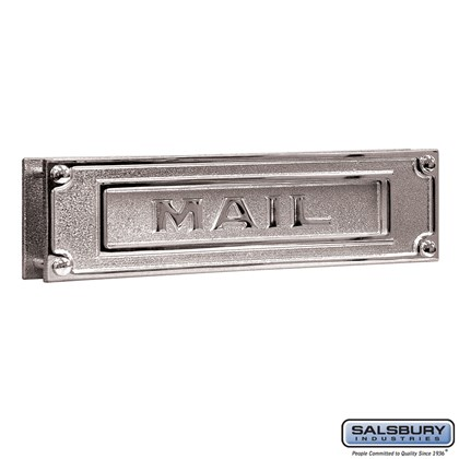 Mail Slot - Deluxe - Solid Brass - Chrome Finish