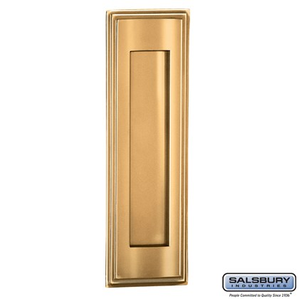 Mail Slot - Vertical - Brass Finish