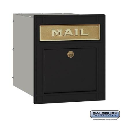 Cast Aluminum Column Mailbox - Locking - Plain Door