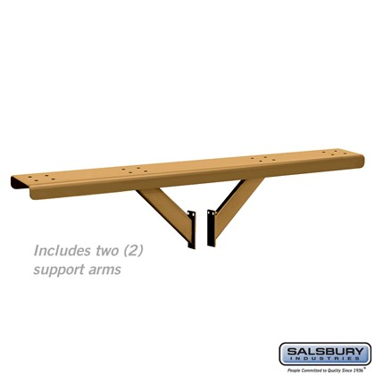 Spreader - 4 Wide with 2 Supporting Arms - for Designer Roadside Mailboxes - Brass