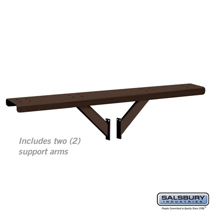 Spreader - 4 Wide with 2 Supporting Arms - for Designer Roadside Mailboxes