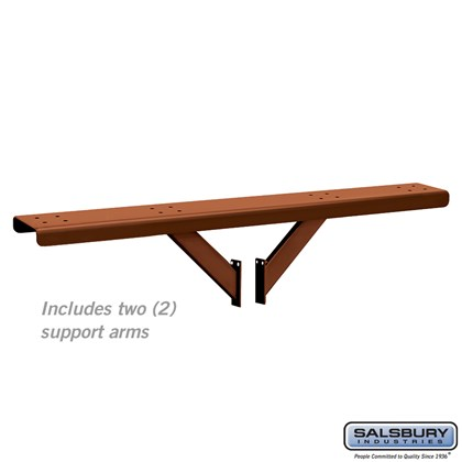 Spreader - 4 Wide with 2 Supporting Arms - for Designer Roadside Mailboxes - Copper