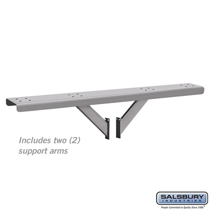 Spreader - 4 Wide with 2 Supporting Arms - for Roadside Mailboxes - Silver