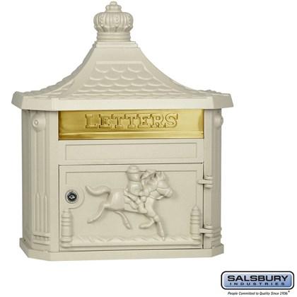 Victorian Mailbox - Surface Mounted - Beige