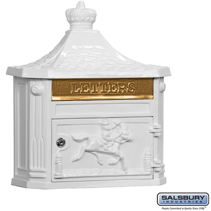 Victorian Mailbox - Surface Mounted - White