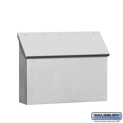 Stainless Steel Mailbox - Standard - Horizontal Style