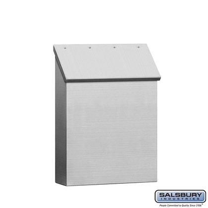 Stainless Steel Mailbox - Standard - Vertical Style