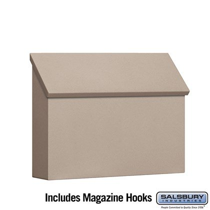 Traditional Mailbox - Standard - Horizontal Style - Beige
