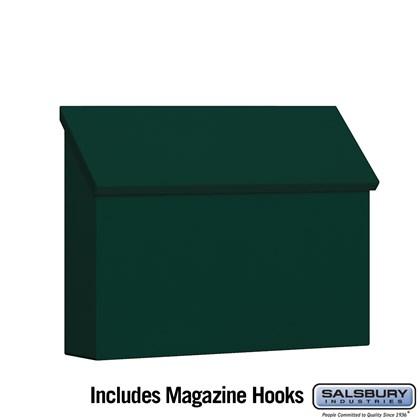 Traditional Mailbox - Standard - Horizontal Style - Green