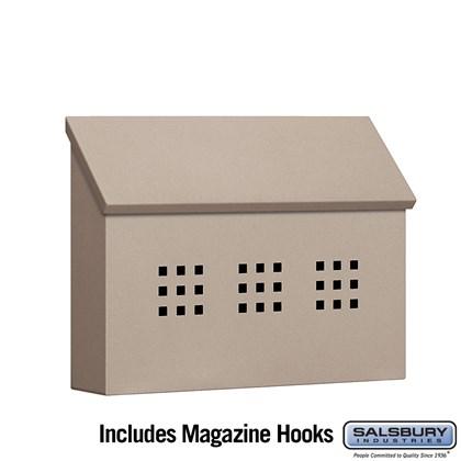 Traditional Mailbox - Decorative - Horizontal Style - Beige