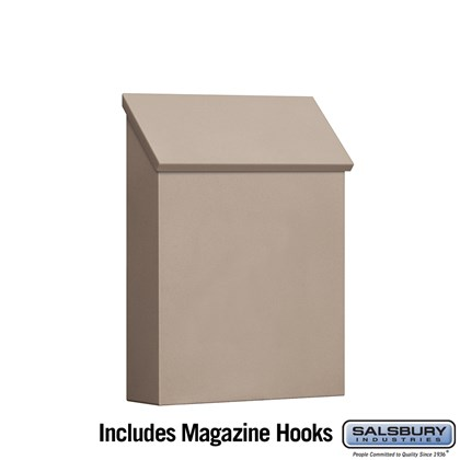 Traditional Mailbox - Standard - Vertical Style - Beige