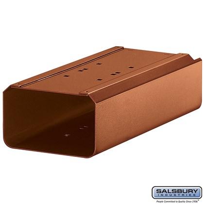 Newspaper Holder - for Antique Rural Mailbox - Copper