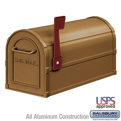 Antique Rural Mailbox - Brass