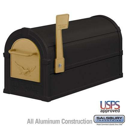 Eagle Rural Mailbox - Black - Gold Eagle