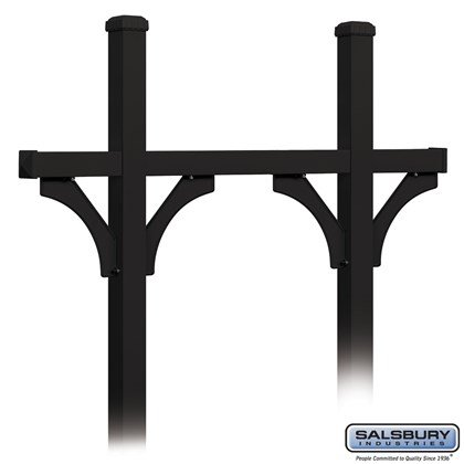 Deluxe Mailbox Post - Bridge Style for (5) Mailboxes - In-Ground Mounted